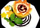 Creme de Mamão Papaia com Calda de Chocolate