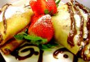 Crepe Parisiense de Nutella com Morangos