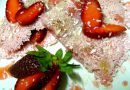 Tapioca de Morango com Leite Condensado e Coco