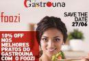 Ganhe desconto (%) nos pratos da feira GastroUna com o aplicativo FOOZI. Baixe agora!