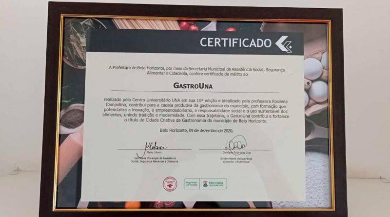 Décima edição do GastroUna é marcada por premiação da PBH